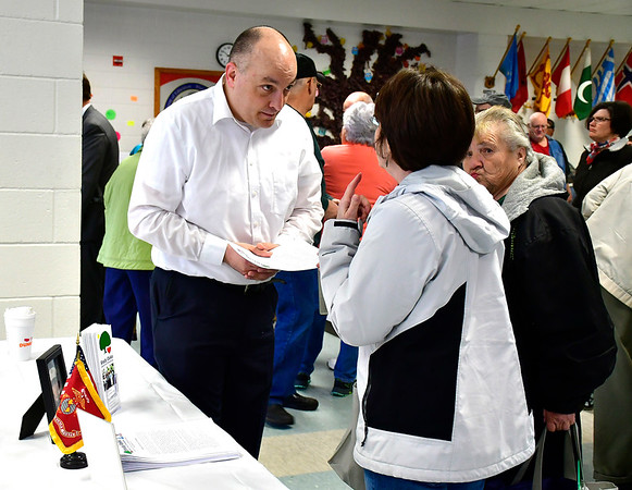 4/6/2019 Mike Orazzi | Staff Shady Oaks'Tyson Belanger during the 5th Annual Connecticut Prime Time Senior Fair Saturday at Bristol Eastern High School.