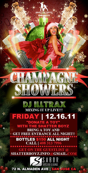 Champagne Showers @ Sabor Tapas Bar & Lounge 12.16.11