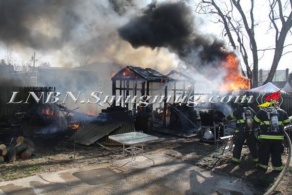 Copiague F.D. Detached Shed Fire 35 Halycon Rd 4-5-13
