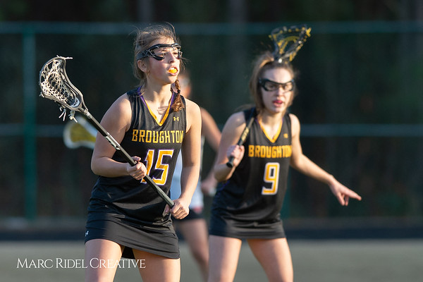 Broughton Lady Caps lacrosse at Middle Creek. February 26, 2019. D4S_1770