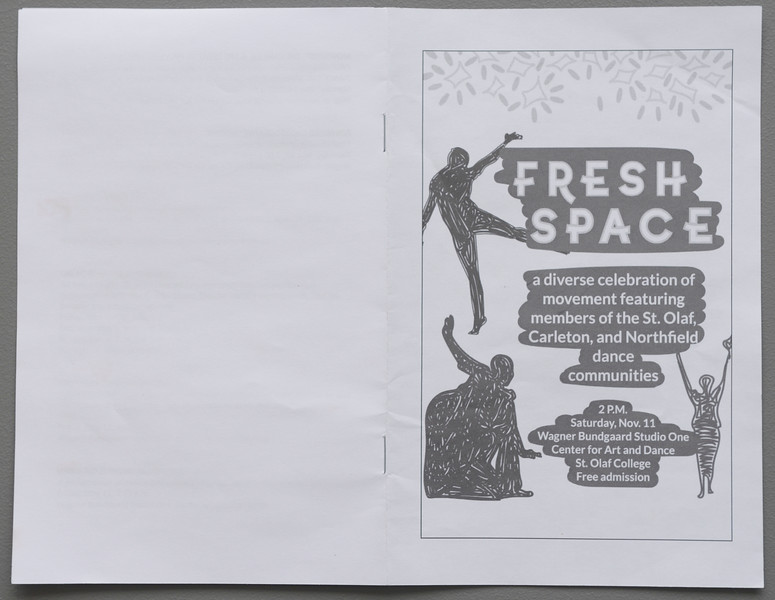>>Fresh Space<<  Dance Concert, 2017 November 11, Center for Art and Dance, St. Olaf College, Northfield, MN  USA.