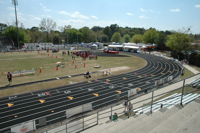 """I begin by snapping shots toward the west, south and east sides of the track complex to give you a feel for the setting """"pre-meet."""""""