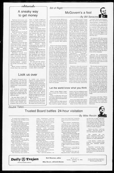 Daily Trojan, Vol. 65, No. 2, September 19, 1972