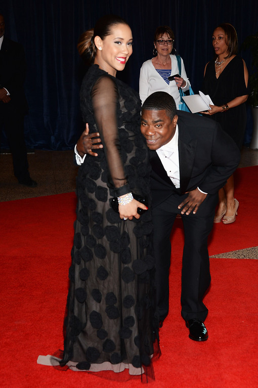 . WASHINGTON, DC - APRIL 27:  Megan Wollover and actor Tracy Morgan attend the White House Correspondents\' Association Dinner at the Washington Hilton on April 27, 2013 in Washington, DC.  (Photo by Dimitrios Kambouris/Getty Images)