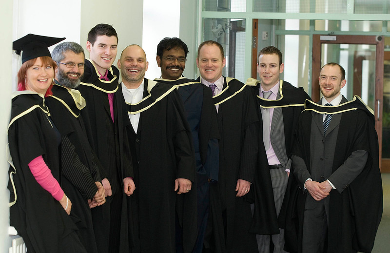 5/1/2012. News. Free to use image. Waterford Institute of Technology (WIT) conferring ceremony. Pictured are Maura Collins Cork, Fazal rabbi Karimi, Waterford, PJ Rowe, Kilkenny, Dinitry Avtin, Wexford, Vasanthraj Balasubramanian, Newbridge, Ray Brady Laois, Brian Leonard Naas and John McNerney Meath. who graduated Master of Science in Construction Project Management. Photo Patrick Browne