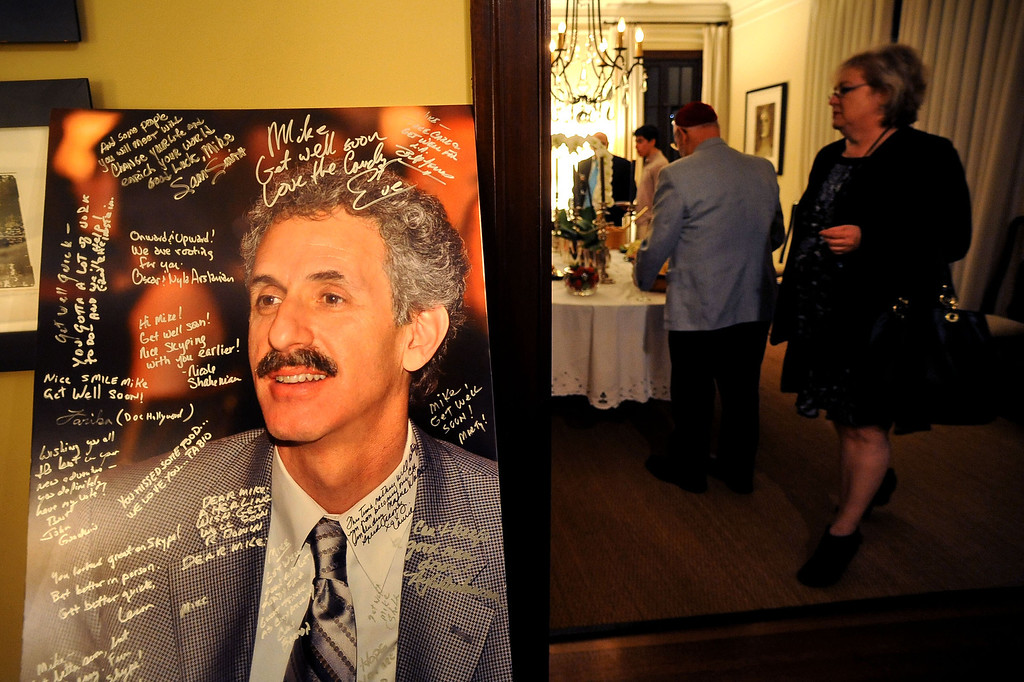 . A photo of City Attorney candidate Mike Feuer greets guests during his election night party in Los Angeles, CA March 5, 2013.(Andy Holzman/Los Angeles Daily News)