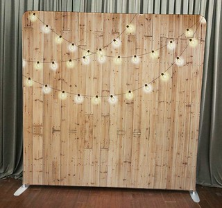 Light Wood with String Lights
