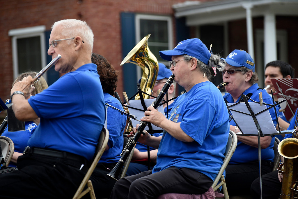 . Kayla Rice/Reformer The Hinsdale Town Band performs in the Hinsdale Memorial Day parade on Monday morning.