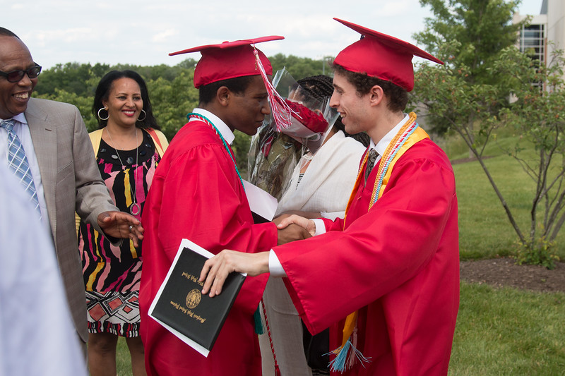 Noah Friedlander and Eyob Tsegaye - June 6, 2017 graduation from Montgomery Blair High School - Magnet Program for Math, Science, and Computer Science, Xfinity Center, University of Maryland, College Park.
