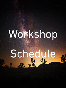 2020 Night Sky Photography Workshop Schedule