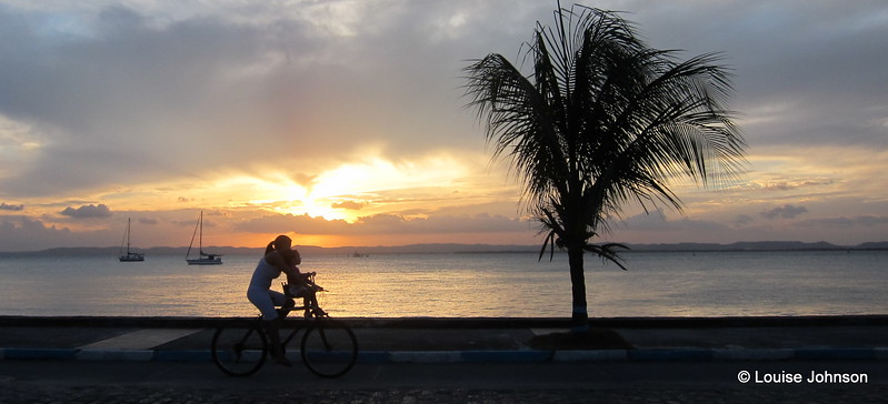 Watching the world cycle by - Itaparica nr Salvador, Brazil