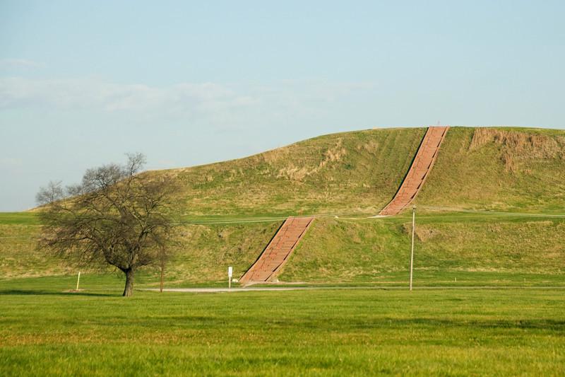 Monks Mound in Cahokia State Historic Site in Illinois, USA