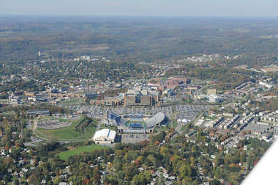 26415 aerial downtown and evansdale campus