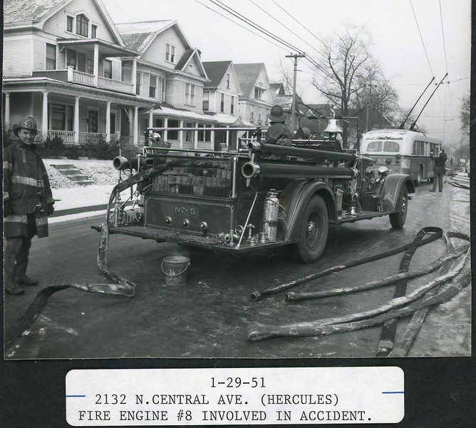 1-29-1951 Fire Engine 8 in accident