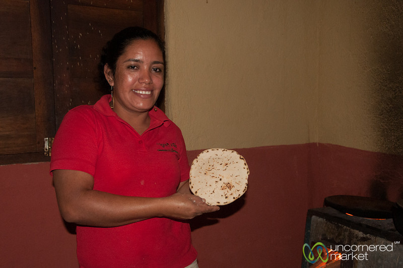 Mercedes the Tortilla Master - Morgan's Rock, Nicaragua