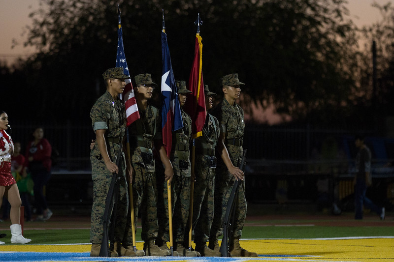 Oct. 20, 2017 - Football - La Joya Coyotes vs McAllen Memorial - Band, Cheer, Dance_GU