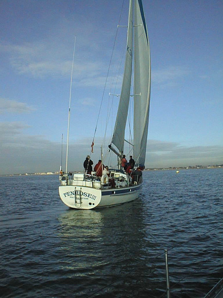 Penrose III in a A HISC Winter Series race in 1997