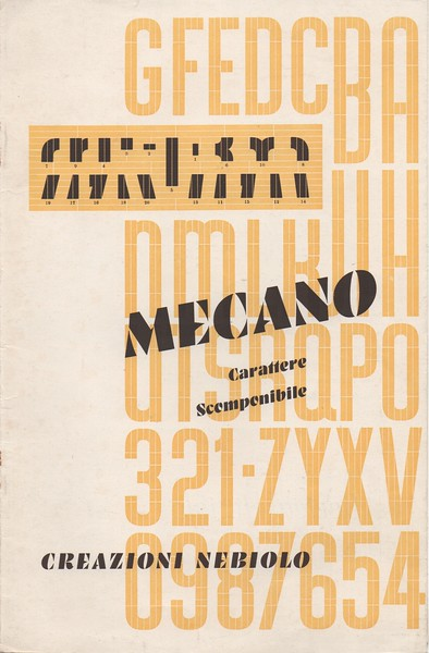 Prospectus of Mecano ornament. 1940s.