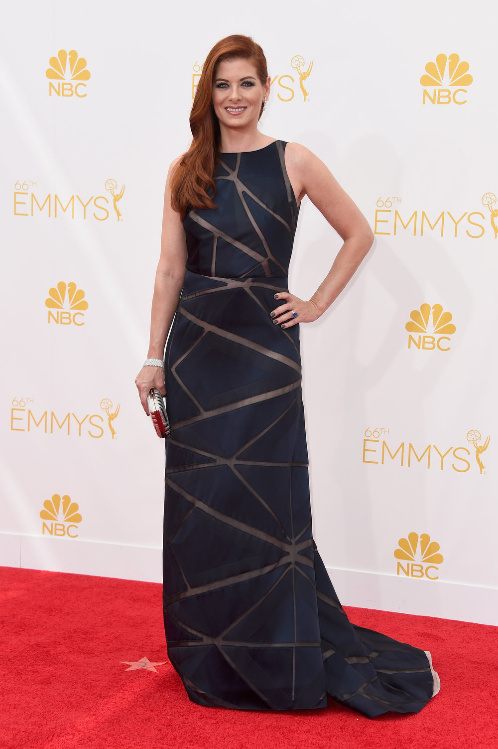 . Actress Debra Messing attends the 66th Annual Primetime Emmy Awards held at Nokia Theatre L.A. Live on August 25, 2014 in Los Angeles, California.  (Photo by Frazer Harrison/Getty Images)