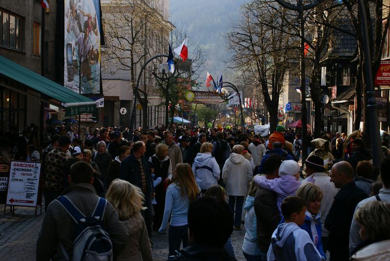 Our return to Vienna took us south to the Poland/Slovakian border.  Zakopane is a Polish a ski-town in the High Ta-tas.  They had a street festival fair.