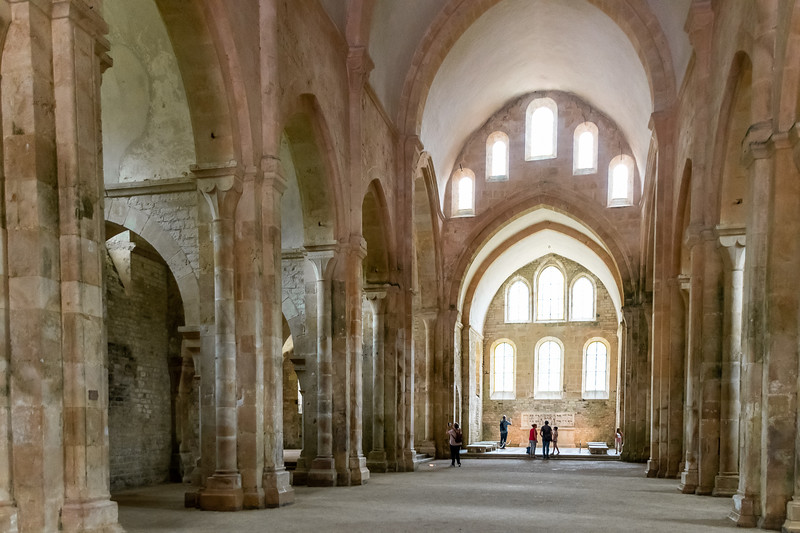 the arched hallways of an old abbey.