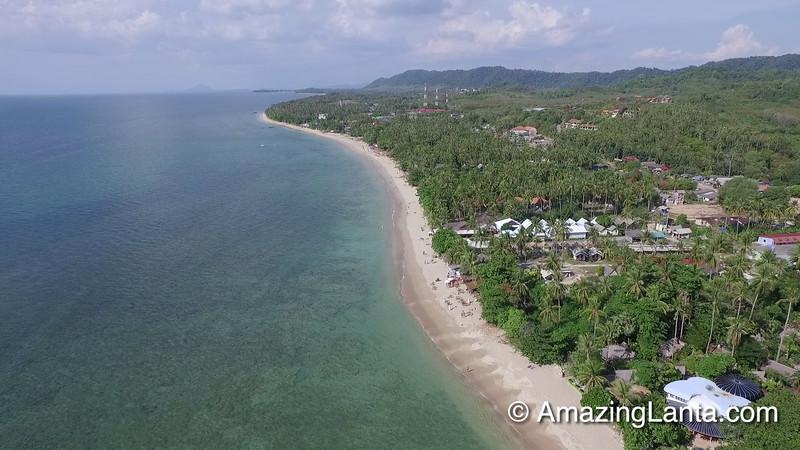 Klong Khong Beach Aerial View