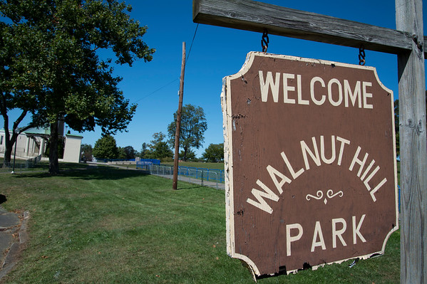 09/19/19 Wesley Bunnell | StaffrrCity workers were busy making improvements to Walnut Hill Park on Thursday as well as setting up security measures for the expected crowd for Sunday's visit by the Polish President.