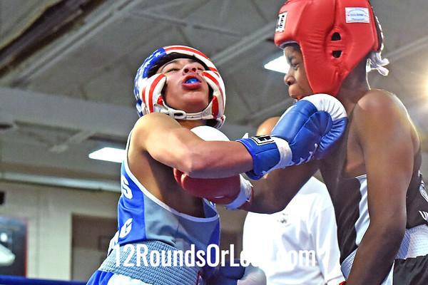 Bout 1 Luis Valdez, Freddies BC -vs- Umar Muhaymin, Untouchable BA, 100 lbs, Intermediate