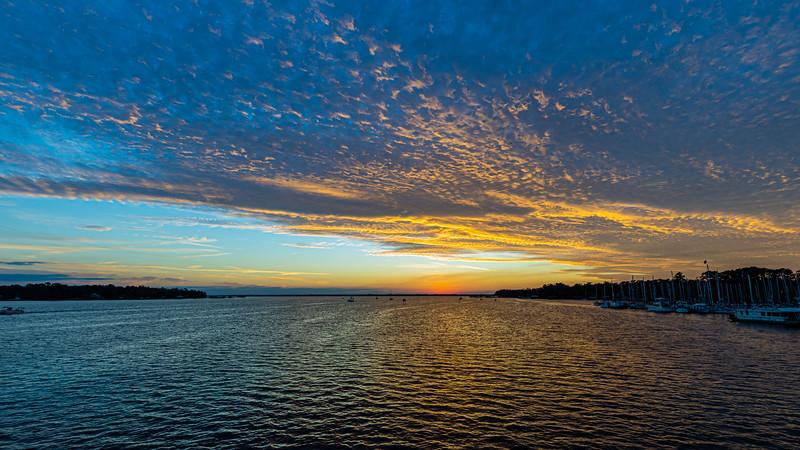 Sunset on the St Johns River from the Bridge over Julington Creek
