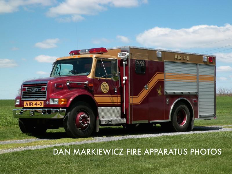 RONKS FIRE CO. AIR 4-8 2001 INTERNATIONAL/PIERCE AIR UNIT
