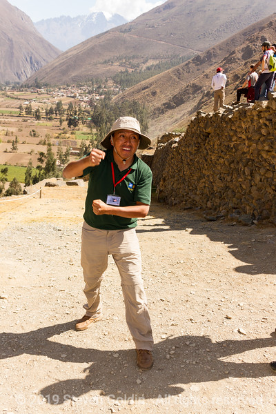 Ollantaytambo - our guide, Ernesto