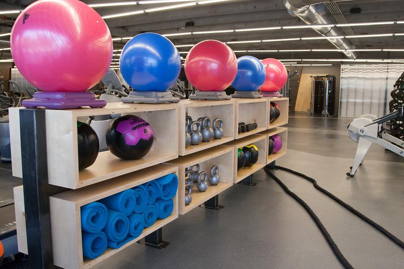 The newly remodeled gym at Sandridge Energy in Oklahoma City.