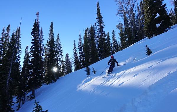 Matt discovers BC skiing