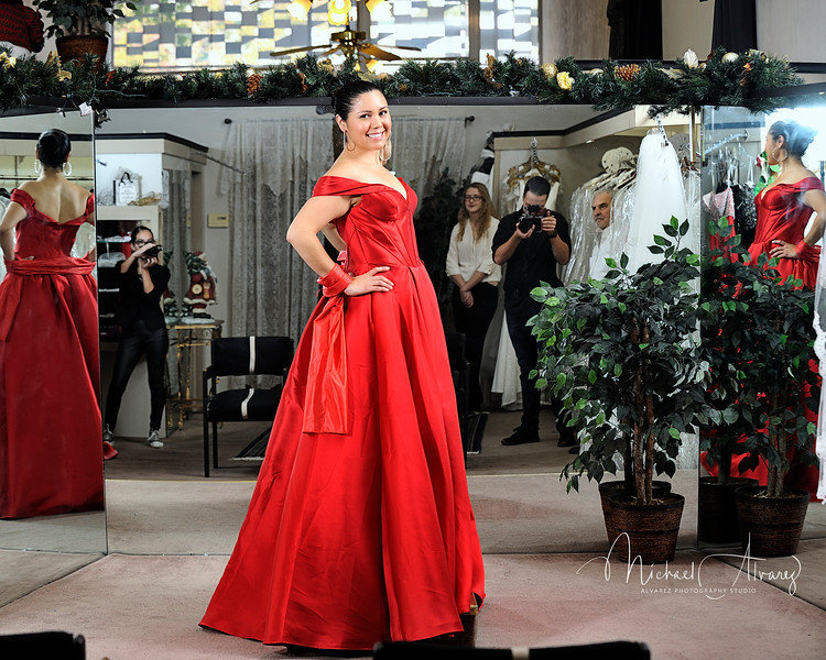 Jessica Delgado - Evening gown Christmas Tree Auction