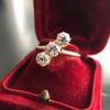 1.38ctw Antique Old European Cut Diamond 3-Stone Ring 6