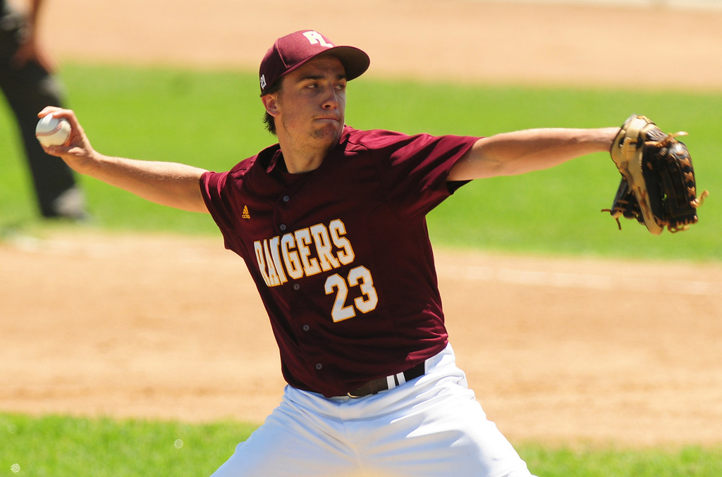 . Forest Lake starter Phil Sauer went the distance in the Rangers\' 2-1 quarterfinal loss to  Mounds View.  (Pioneer Press: Scott Takushi)