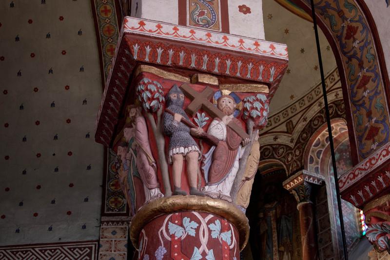 Issoire. Saint-Austremoine Abbey, Longinus and Christ