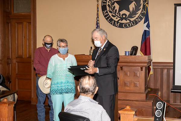 Commissioners Court Certificates of Appreciation 9-20