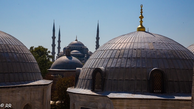 View of the Blue Mosque from Hagia Spohia