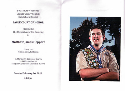 2/26/2012 - Matt's Eagle Court of Honor