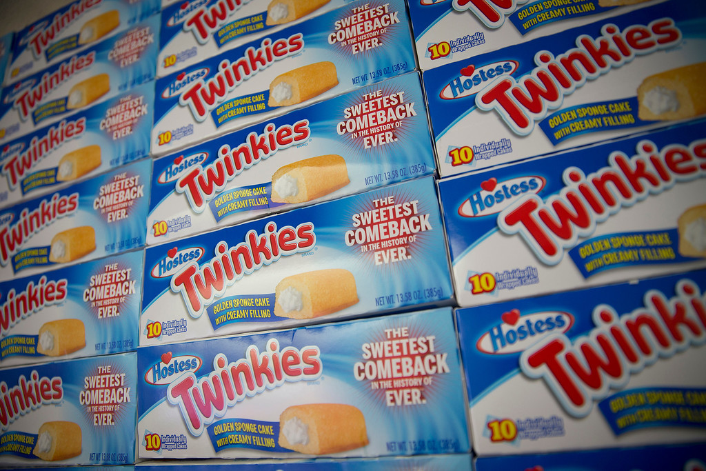 . Boxes of Hostess Brands LLC Twinkies snack cakes are stacked in a truck as part of a promotion in New York, U.S., on Monday, July 15, 2013. Photographer: Scott Eells/Bloomberg