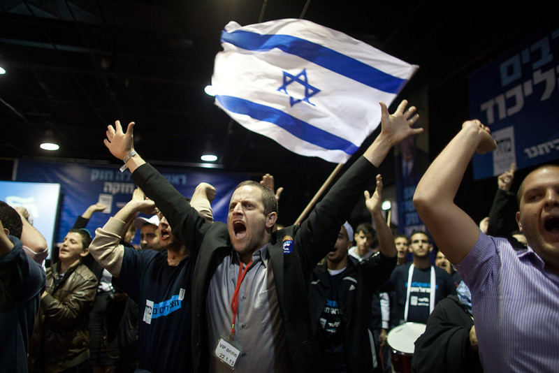 . Prime Minister Benjamin Netanyahu\'s rightist Likud-Beitenu party came out on top in Israel\'s election on Tuesday, exit polls said, with Israel seeing the highest turnout of voters since 1999 (Photo by Uriel Sinai/Getty Images)