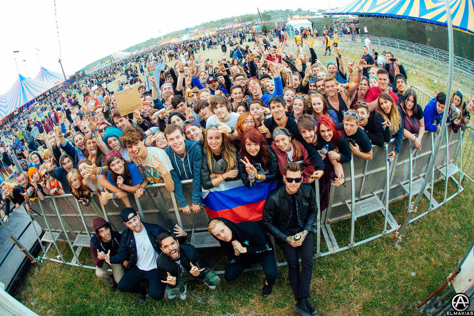 A Day To Remember and fans at Reading Festival