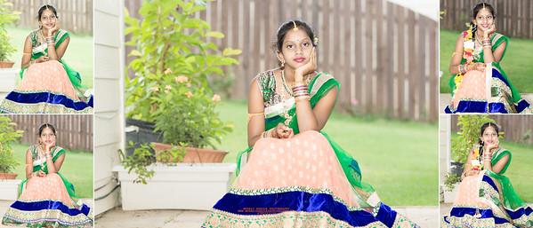 Sanjana Half Saree Function