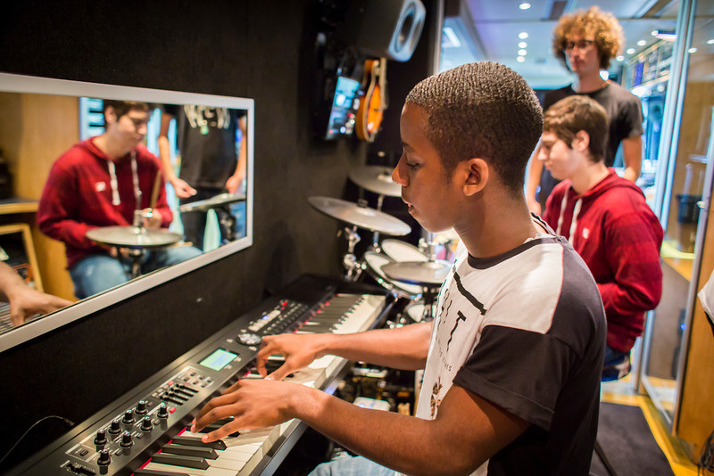 2013_11_04, Dillard Center for the Arts, FL, Flordia, Fort Lauderdale, Ft. Lauderdale, students, Student Recording Session, Session, Roland,