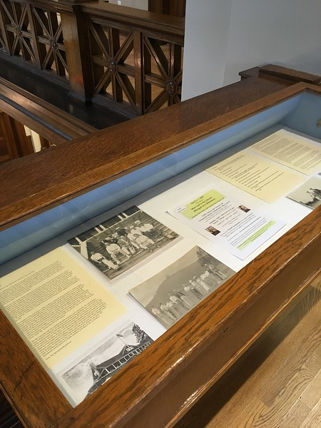 Holyoke History Room Archivist Eileen Crosby prepared a relevant exhibit about golfing in Holyoke.