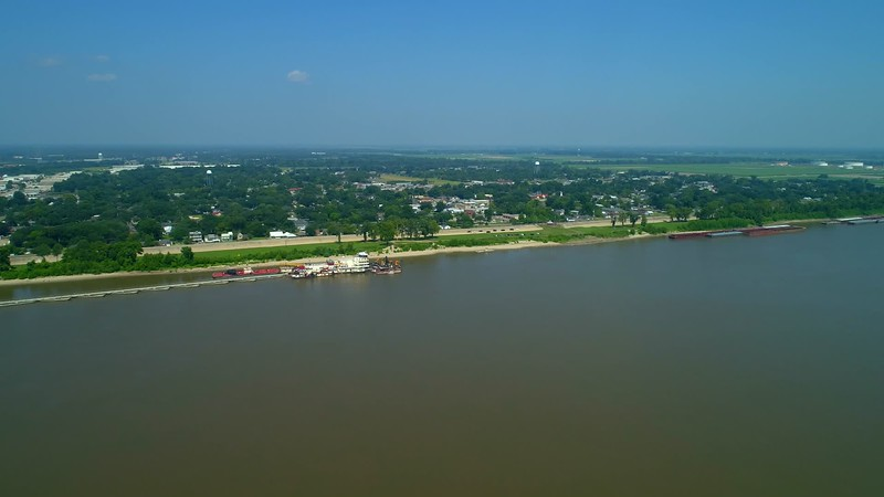 Aerial footage Water Heritage Trail West Baton Rouge Louisiana USA