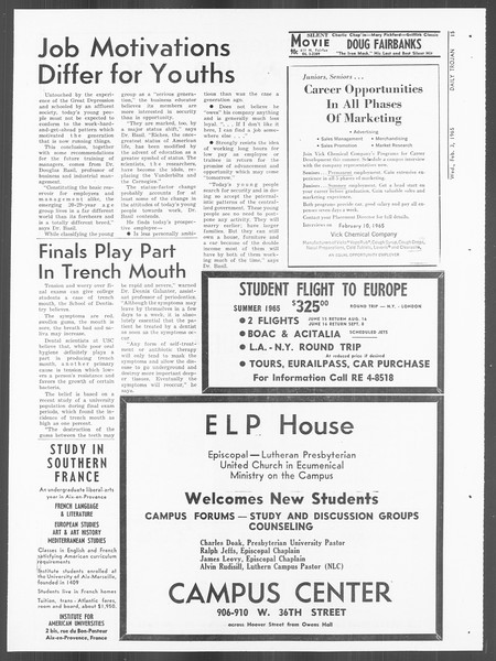 Daily Trojan, Vol. 56, No. 58, February 03, 1965