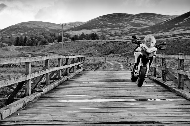 """Photos from Ducati.ms forum member 'miloVanMultistrada' (aka Miles) of his Multistrada 1200. A quick jaunt up to Glenisla and the first """"proper"""" use of Enduro mode."""
