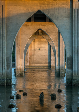 Under the main bridge in Florence, OR.